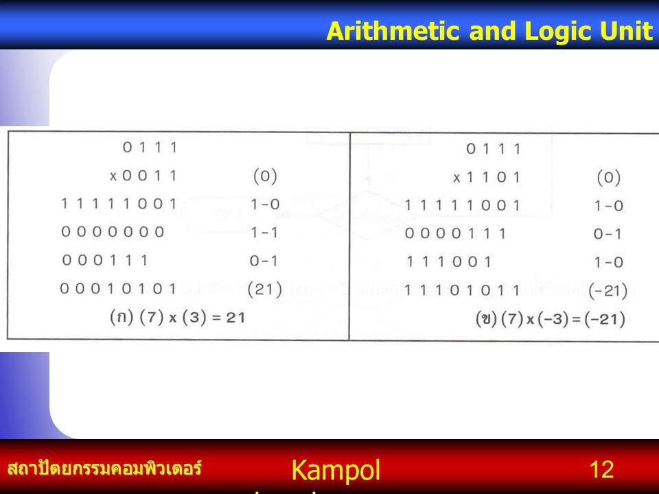 Kampol chanchoengpan it สถาปัตยกรรมคอมพิวเตอร์ Arithmetic and Logic Unit 12