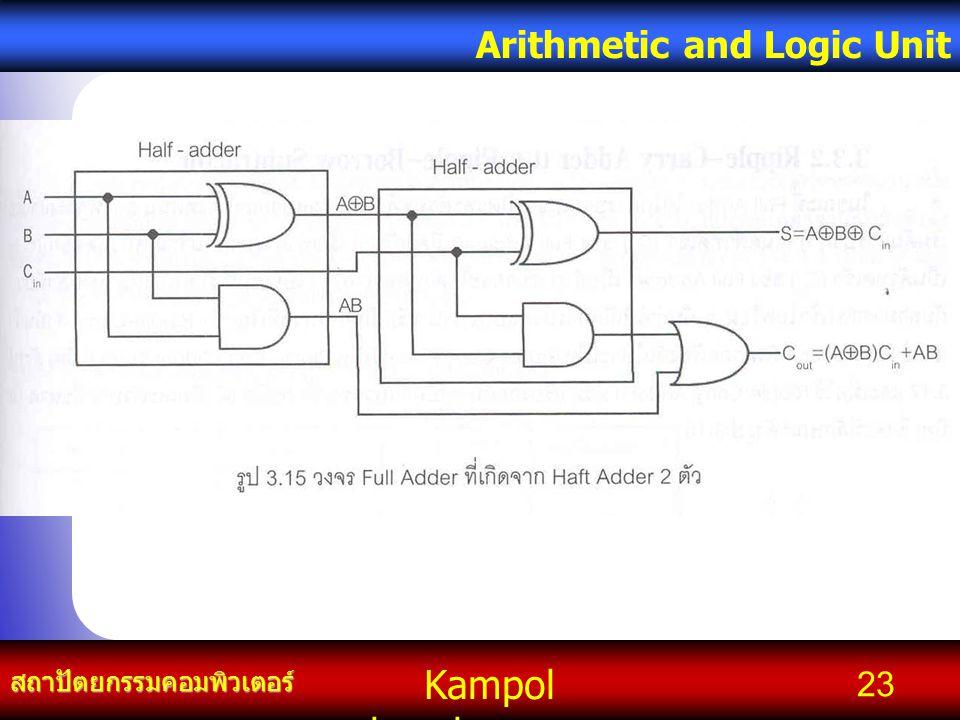 Kampol chanchoengpan it สถาปัตยกรรมคอมพิวเตอร์ Arithmetic and Logic Unit 23