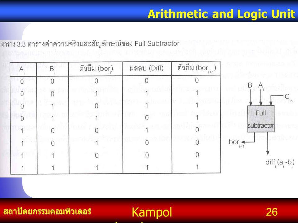 Kampol chanchoengpan it สถาปัตยกรรมคอมพิวเตอร์ Arithmetic and Logic Unit 26