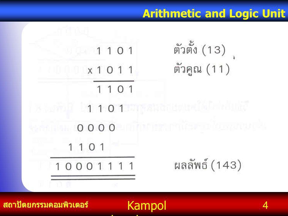 Kampol chanchoengpan it สถาปัตยกรรมคอมพิวเตอร์ Arithmetic and Logic Unit 4