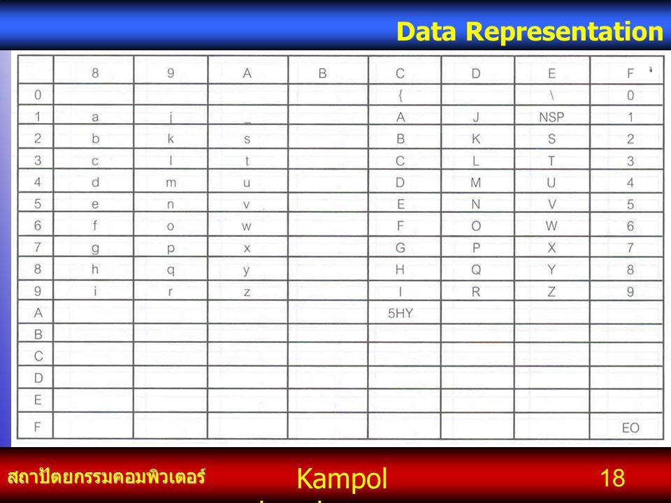 Kampol chanchoengpan it สถาปัตยกรรมคอมพิวเตอร์ Data Representation 18