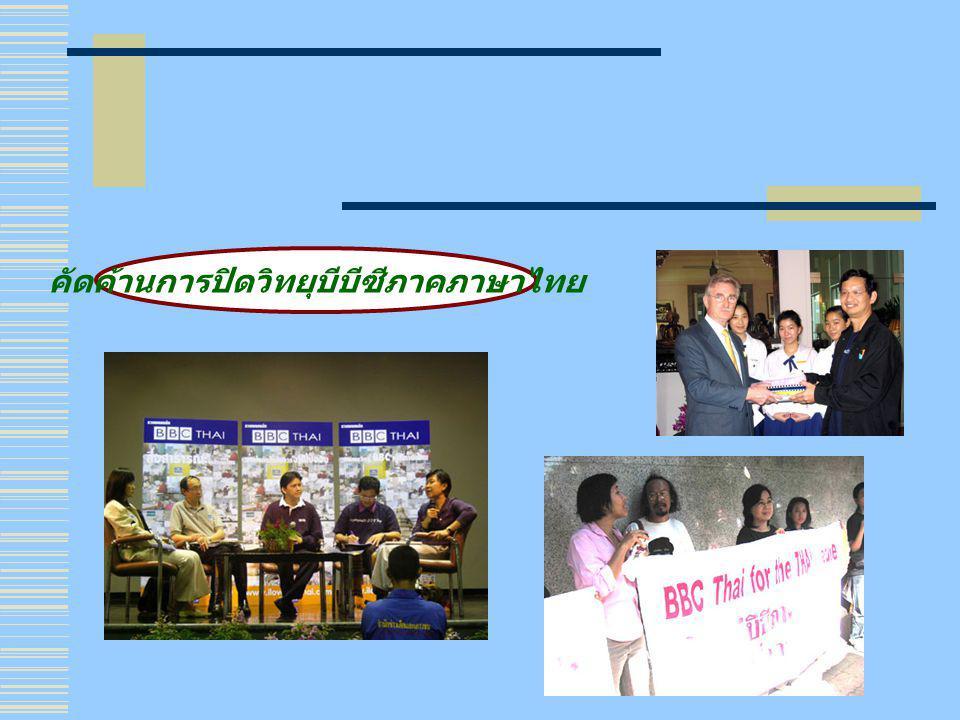 คัดค้านการปิดวิทยุบีบีซีภาคภาษาไทย