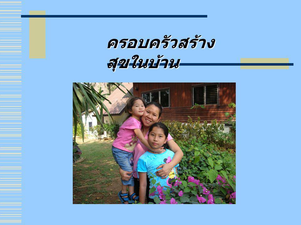 ครอบครัวสร้าง สุขในบ้าน