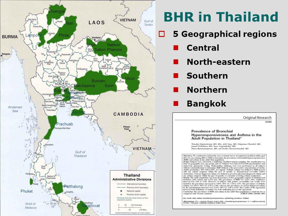 Chiangrai Nan PhraeLampoon Udon Sakon Nakhon Phanom Ubon Surin Buriram Ratchasima Suphan Pathum Nontaburi Rayong Patthalung Narathiwat Prachuab Phuket
