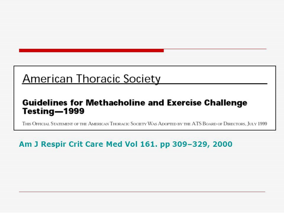 Am J Respir Crit Care Med Vol 161. pp 309–329, 2000