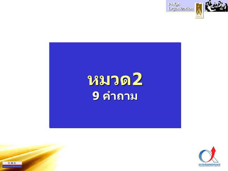 PMQA Organization หมวด2 9 คำถาม