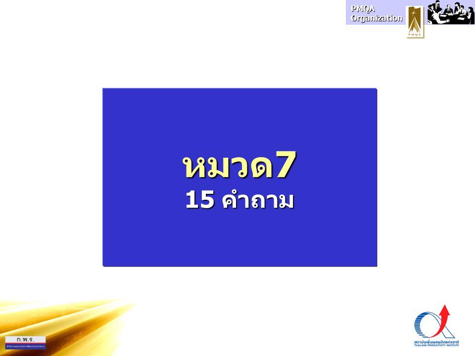 PMQA Organization หมวด7 15 คำถาม