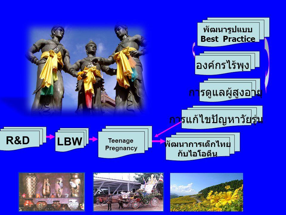 LBW Teenage Pregnancy พัฒนาการเด็กไทย กับไอโอดีน การแก้ไขปัญหาวัยรุ่น การดูแลผู้สูงอายุ องค์กรไร้พุง R&D พัฒนารูปแบบ Best Practice