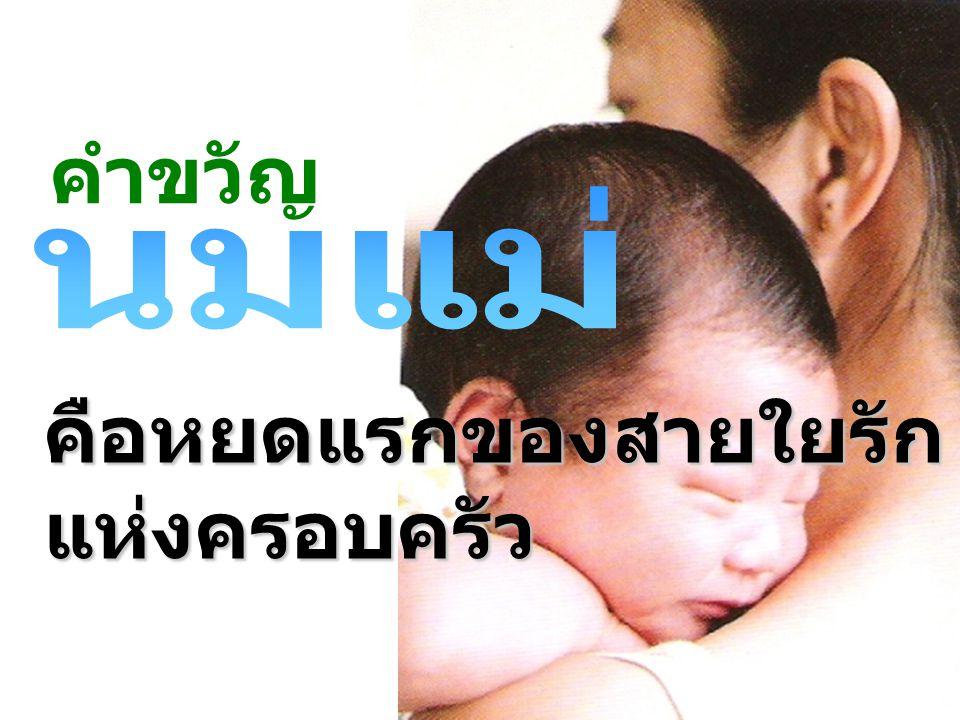 คำขวัญ คือหยดแรกของสายใยรักแห่งครอบครัว