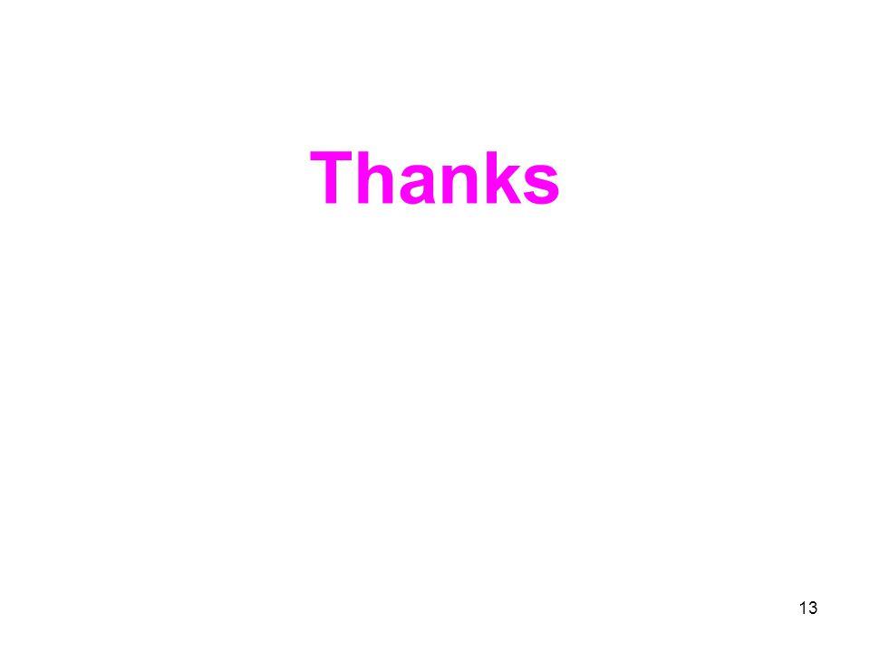 13 Thanks