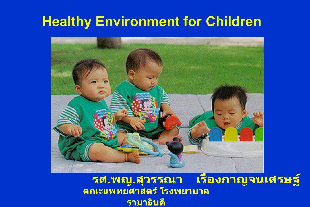 Healthy Environment for Children รศ. พญ. สุวรรณา เรืองกาญจนเศรษฐ์ คณะแพทยศาสตร์ โรงพยาบาล รามาธิบดี