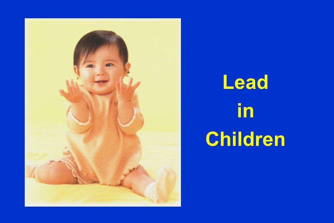 CDC Recommendation 40404040 30303030 20202020 10101010 197 0 197 5 198 5 199 0 BLL BLL(mcg/dL) 40 30 25 10