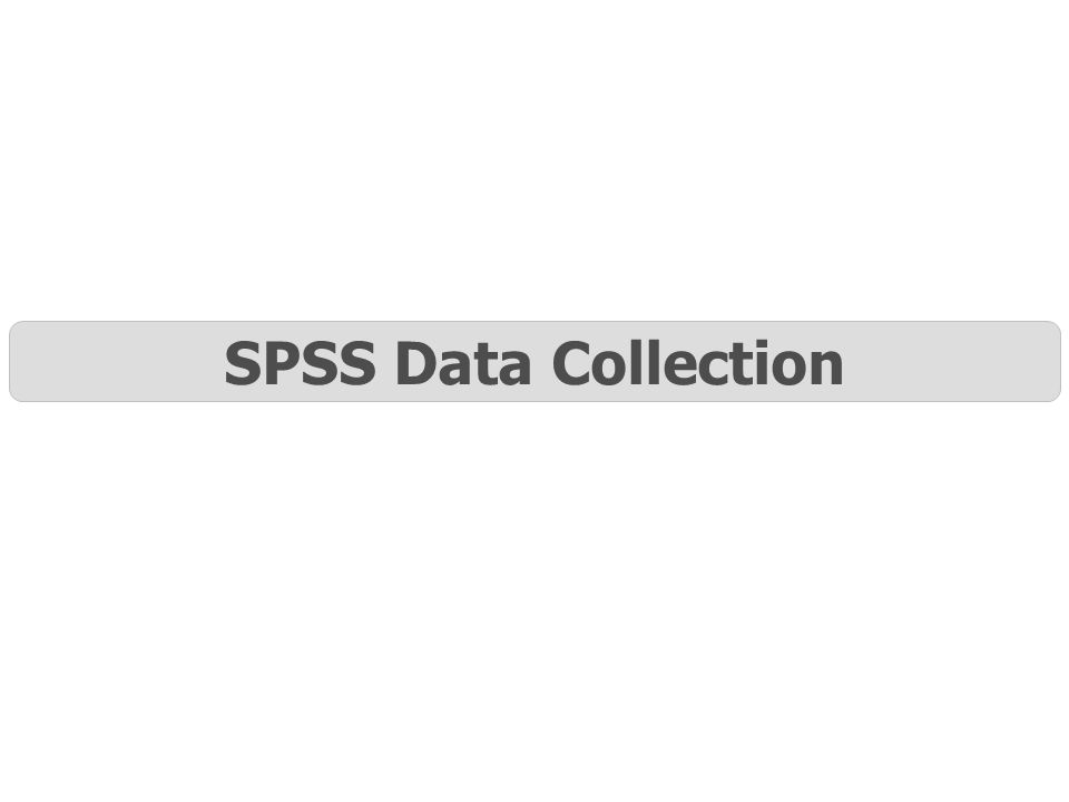 SPSS Data Collection