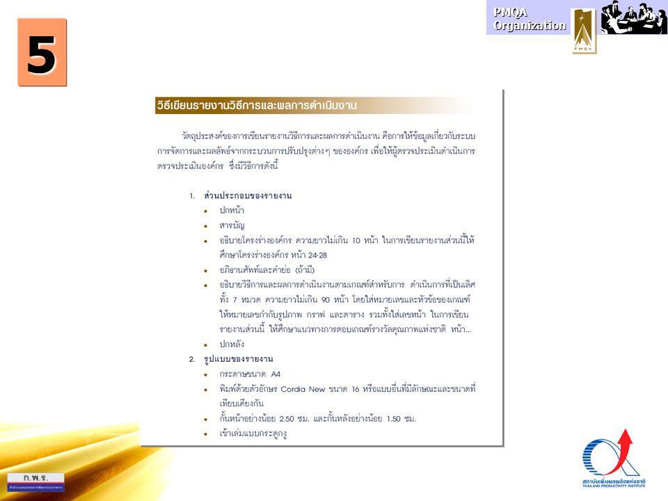 PMQA Organization 5