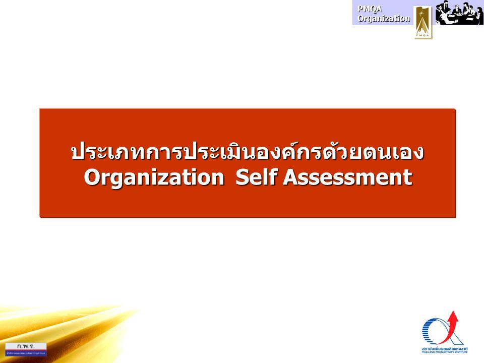 PMQA Organization ประเภทการประเมินองค์กรด้วยตนเอง Organization Self Assessment