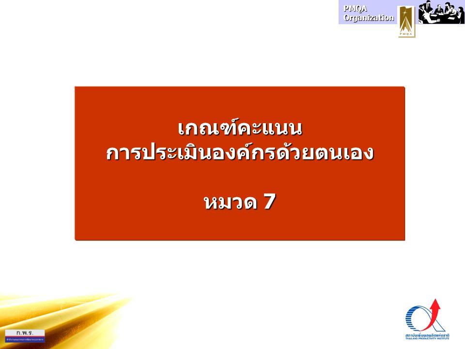 PMQA Organization เกณฑ์คะแนนการประเมินองค์กรด้วยตนเอง หมวด 7