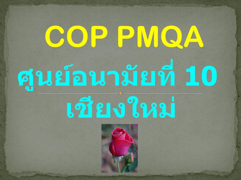 COP PMQA ศูนย์อนามัยที่ 10 เชียงใหม่