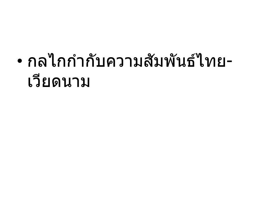 กลไกกำกับความสัมพันธ์ไทย - เวียดนาม