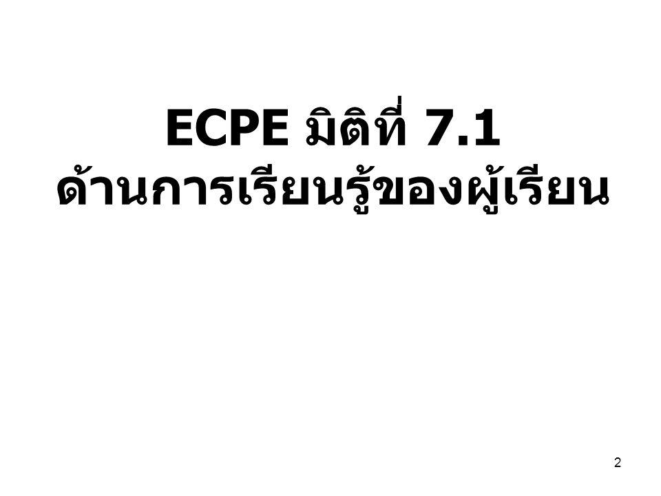 ECPE มิติที่ 7.1 ด้านการเรียนรู้ของผู้เรียน 2