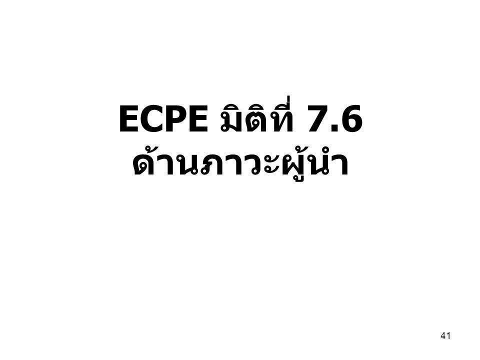 ECPE มิติที่ 7.6 ด้านภาวะผู้นำ 41