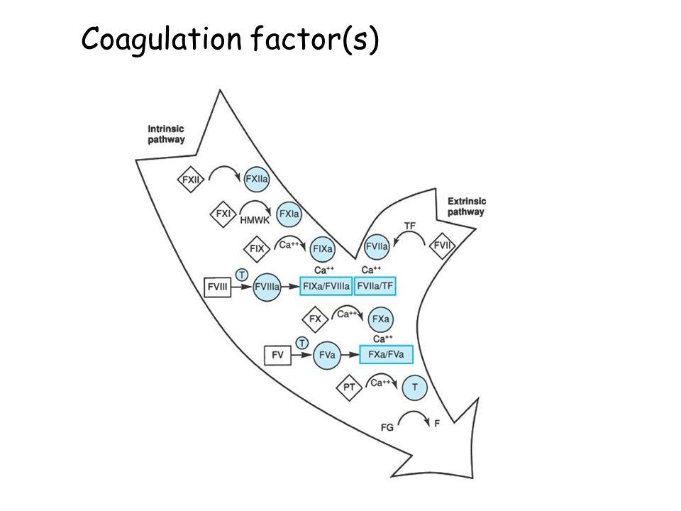 Coagulation factor(s)