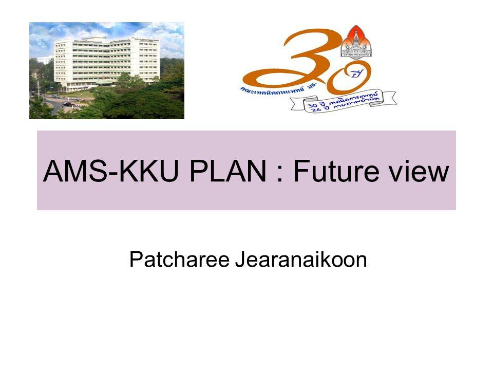 AMS-KKU PLAN : Future view Patcharee Jearanaikoon