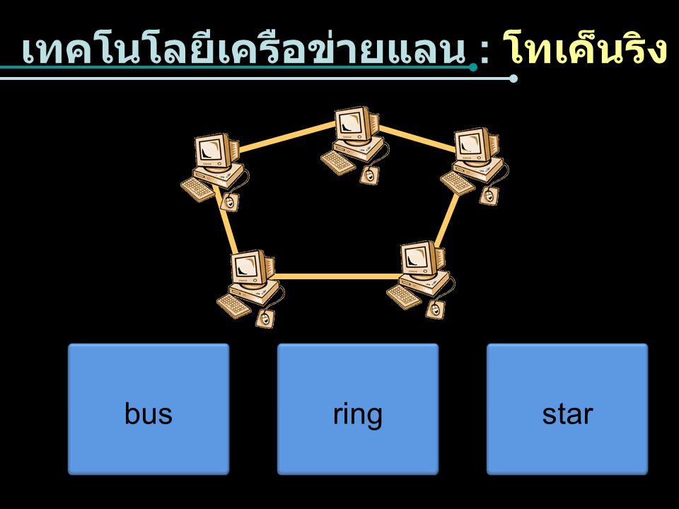 เทคโนโลยีเครือข่ายแลน : โทเค็นริง busringstar