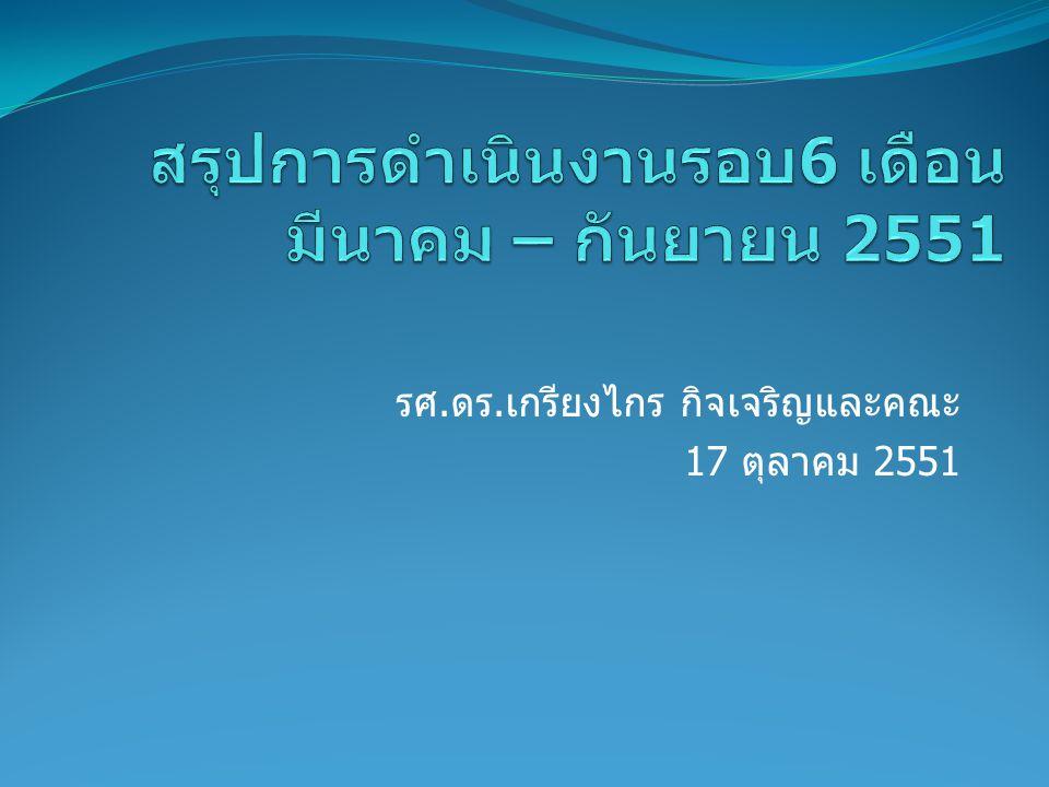 รศ.ดร.เกรียงไกร กิจเจริญและคณะ 17 ตุลาคม 2551