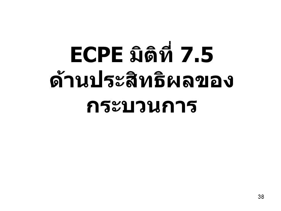 ECPE มิติที่ 7.5 ด้านประสิทธิผลของ กระบวนการ 38