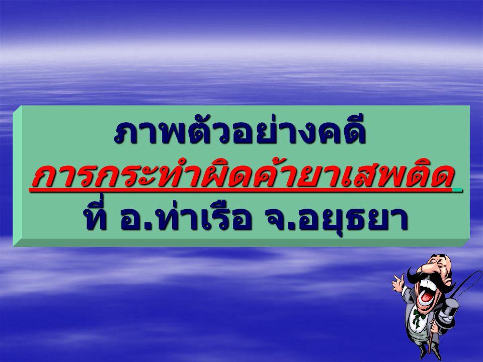 ภาพตัวอย่างคดียาเสพติดที่ อำเภอปากท่อ จ.ราชบุรี