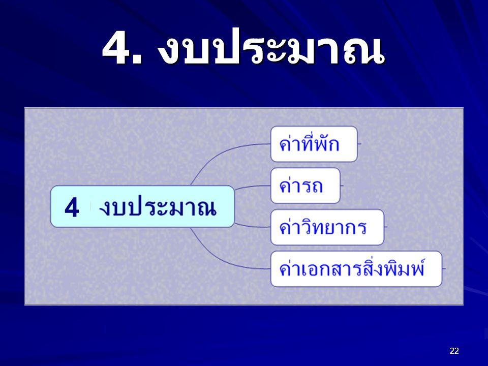22 4. งบประมาณ 4