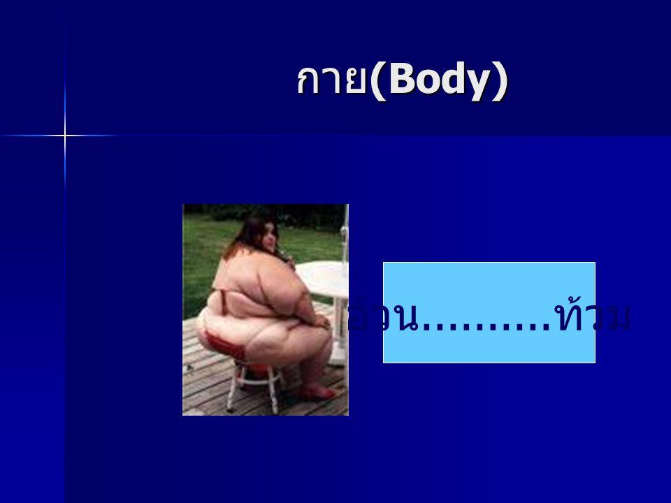 กาย (Body) กาย (Body) อ้วน.......... ท้วม