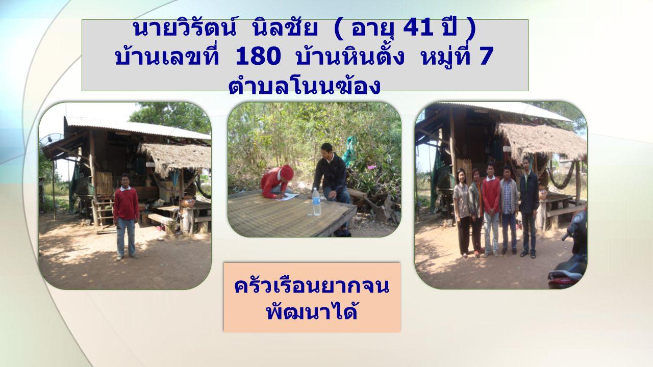 Two Content Layout with Smar นายกองลี สุสินแก่น ( อายุ 49 ปี ) บ้านเลขที่ 114 บ้านหินตั้ง หมู่ที่ 7 ตำบลโนนฆ้อง ครัวเรือนยากจน พัฒนาได้ ครัวเรือนยากจน พัฒนาได้