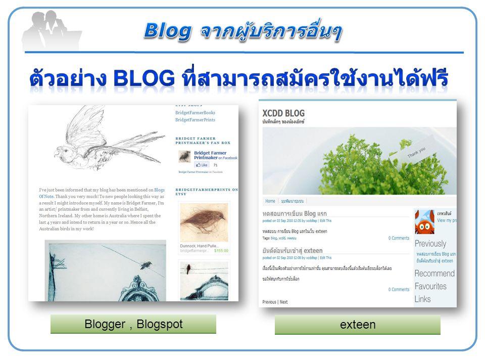 Blogger, Blogspot exteen