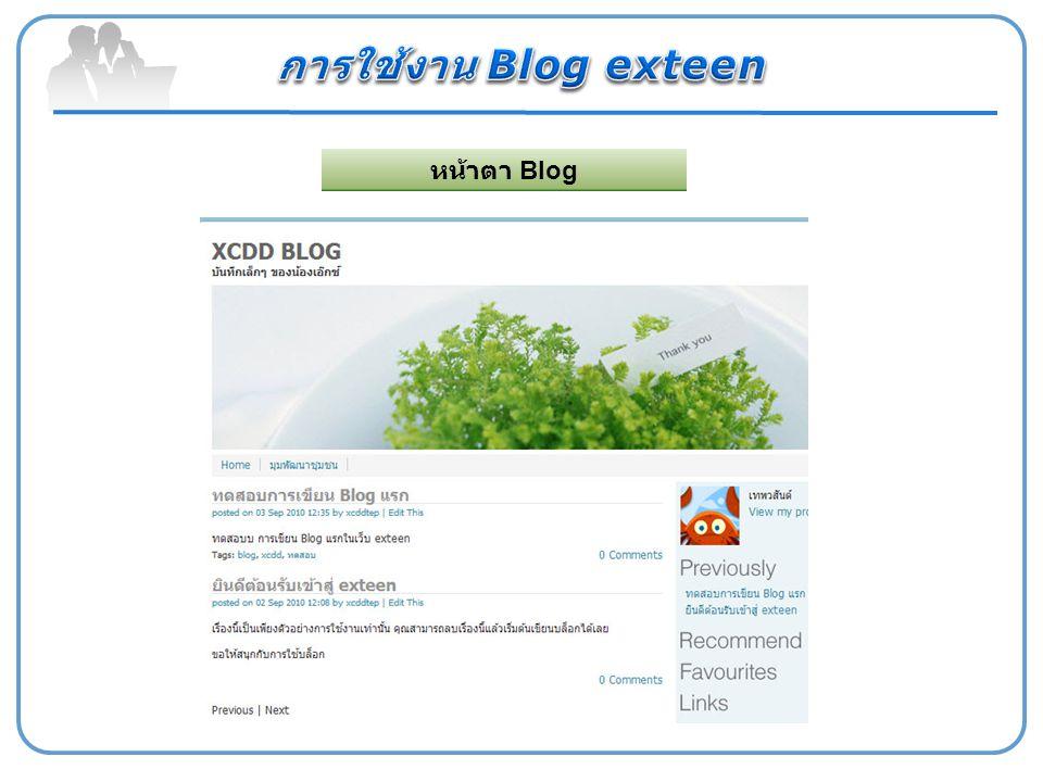 หน้าตา Blog