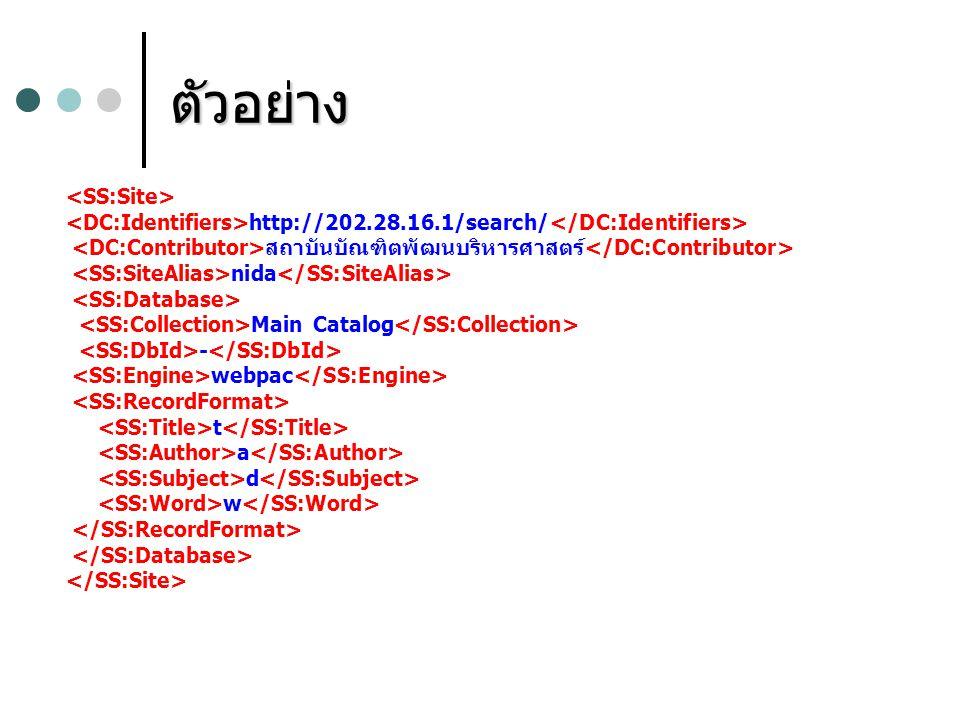 ตัวอย่าง http://202.28.16.1/search/ สถาบันบัณฑิตพัฒนบริหารศาสตร์ nida Main Catalog - webpac t a d w