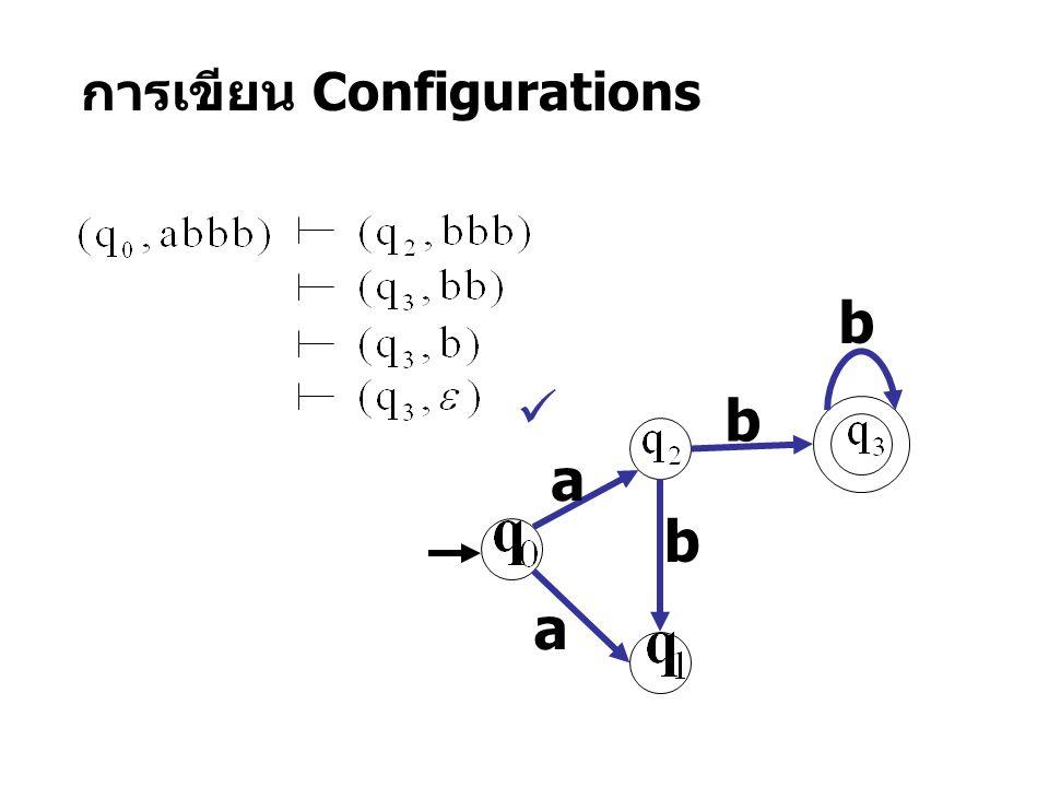 การเขียน Configurations a a b b b