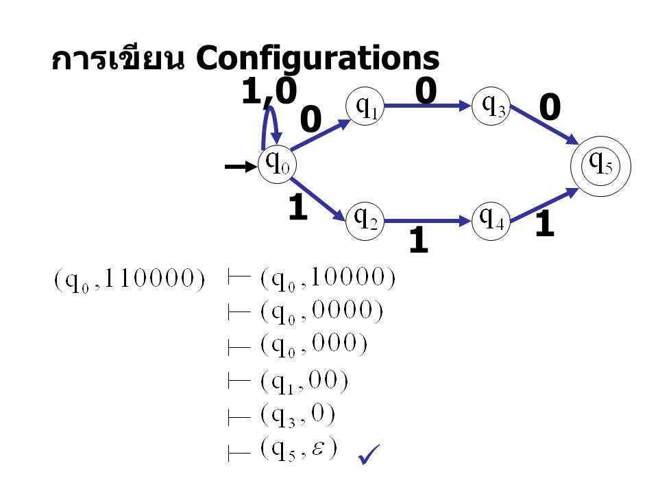 การเขียน Configurations 1 1 1,0 0 0 0 1