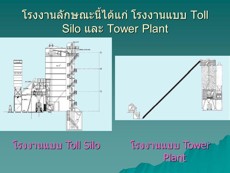 โรงงานลักษณะนี้ได้แก่ โรงงานแบบ Toll Silo และ Tower Plant โรงงานแบบ Toll Siloโรงงานแบบ Tower Plant