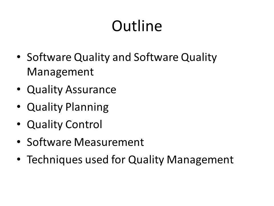 Quality Control (QC) คือ กระบวนการดูแลและควบคุมให้กระบวนการ ผลิตซอฟต์แวร์ ดำเนืนไปตามแผนงานการ ประกันคุณภาพและมาตรฐานต่างๆ อย่าง ครบถ้วน (Sommerville, 2007)