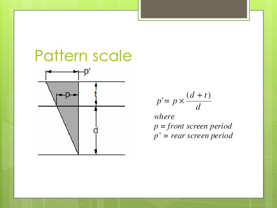 Pattern scale