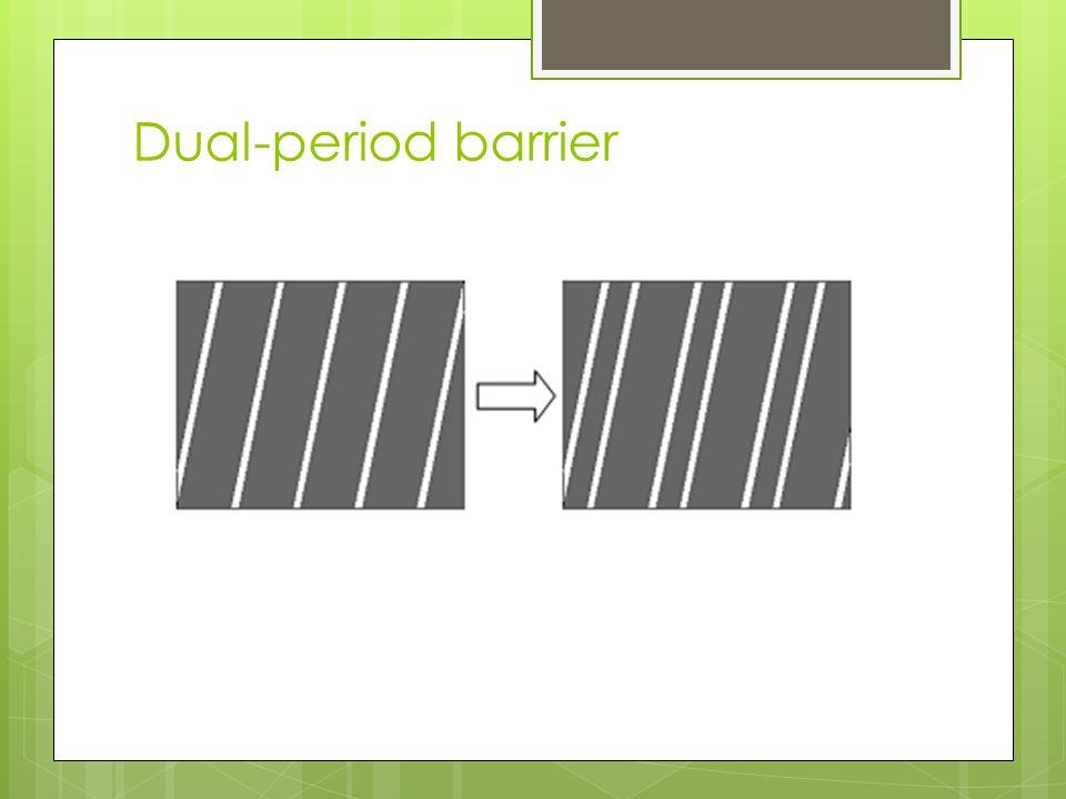 Dual-period barrier