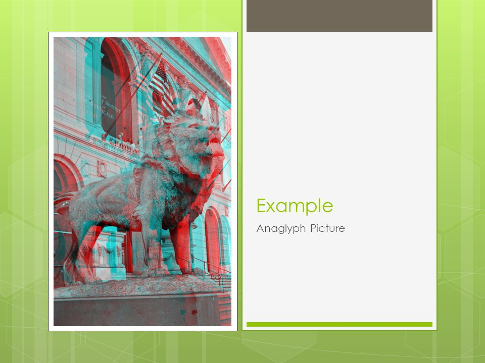 Example Anaglyph Picture