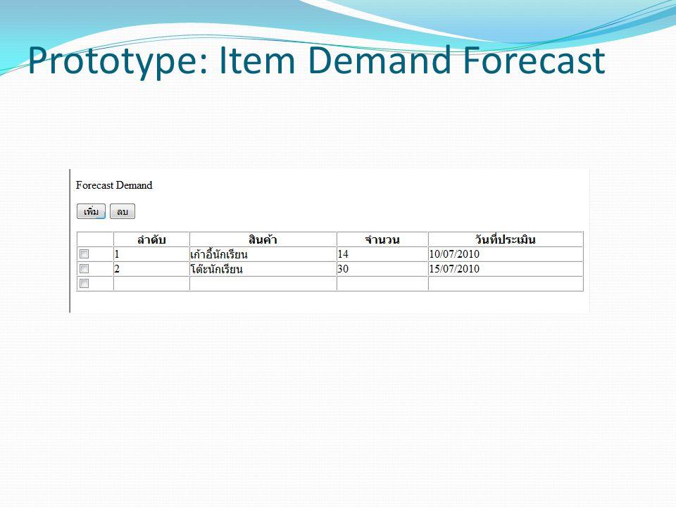 Prototype: Item Demand Forecast