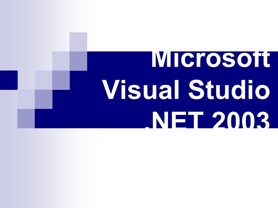 Microsoft Visual Studio.NET 2003