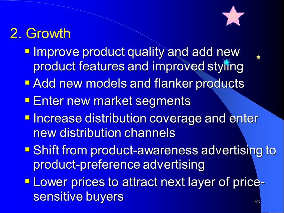 51 Rapid-skimming strategy Slow-skimming strategy Rapid-penetration strategy Slow-penetration strategy ราคาสูง ราคาต่ำ ส่งเสริมการตลาดมากส่งเสริมการตล