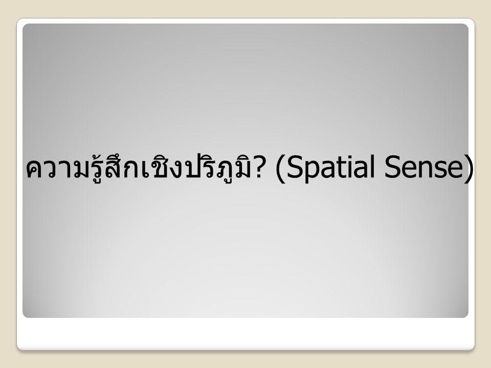 ความรู้สึกเชิงปริภูมิ ? (Spatial Sense)