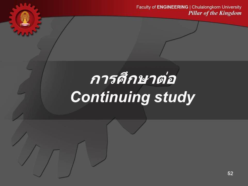 การศึกษาต่อ Continuing study 52