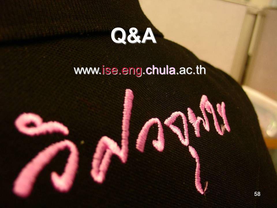 58 www.ise.eng.chula.ac.th Q&A