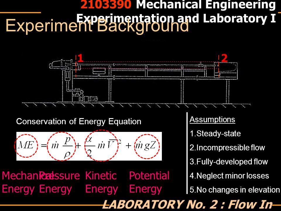1 2 2103390 Mechanical Engineering Experimentation and Laboratory I LABORATORY No.